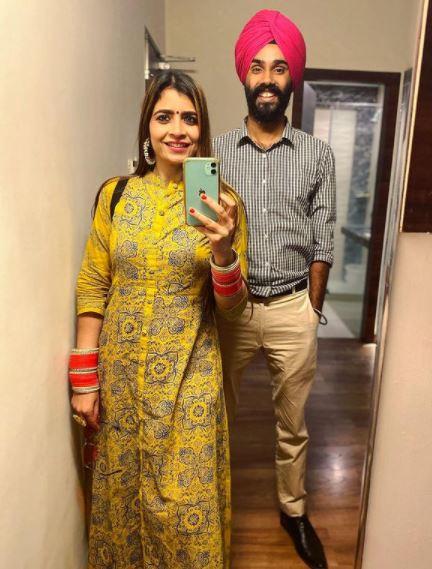 Jatt Prabhjot with his wife priyanka kapoor