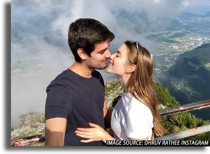 Dhruv rathee with his girlfriend