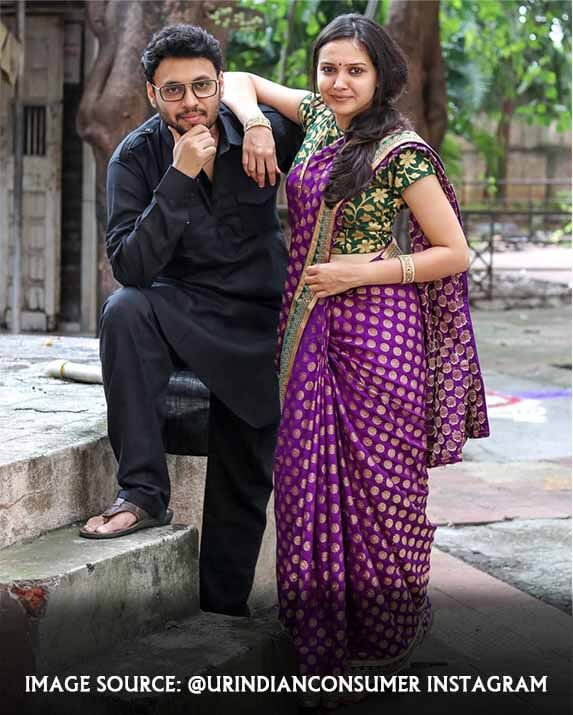 Prasad vedpathak with his wife
