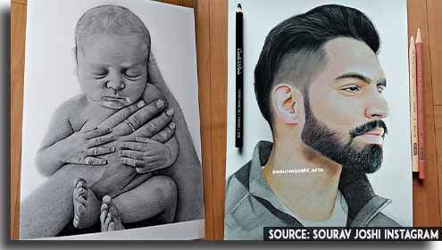 sourav joshi drawings and sketches