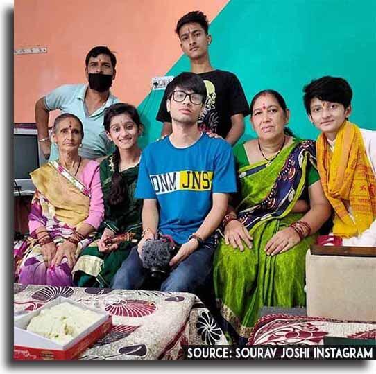 sourav joshi with his family