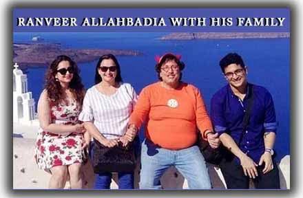 Ranveer Allahbadia with his family