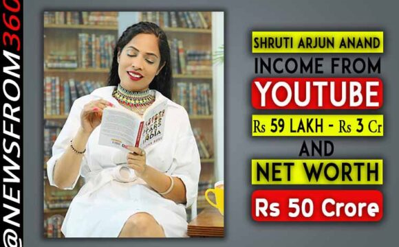 Shruti Arjun Anand income from youtube and net worth