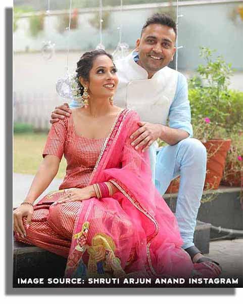 Shruti Arjun Anand with her husband