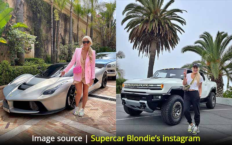 Supercar blondie's income from youtube in 2021