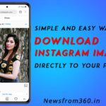 How to dowload any images or pictures from instagram to your phone
